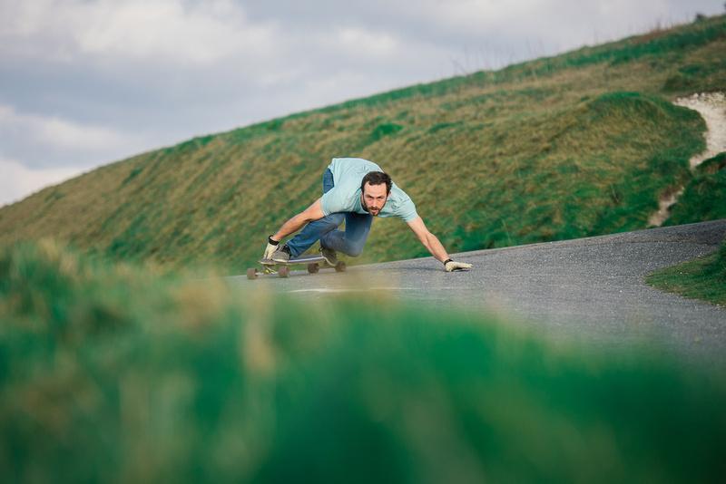 Doug Longboarding at the Needles, isle of wight,