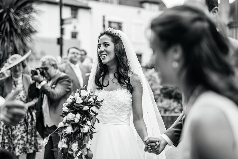 High Elms Manor Wedding Photography. St. John the Baptist Church, Barnet. Martin Allen Photography wedding photographer