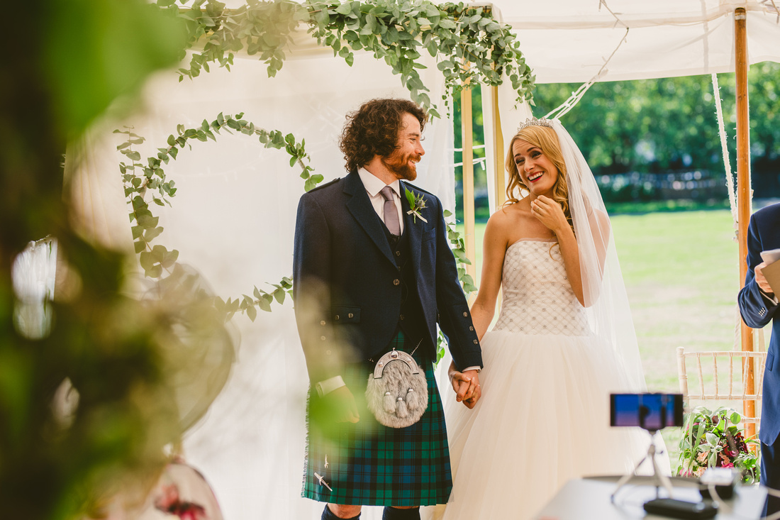 Caz & James's wedding at Leyton Cricket Ground, London