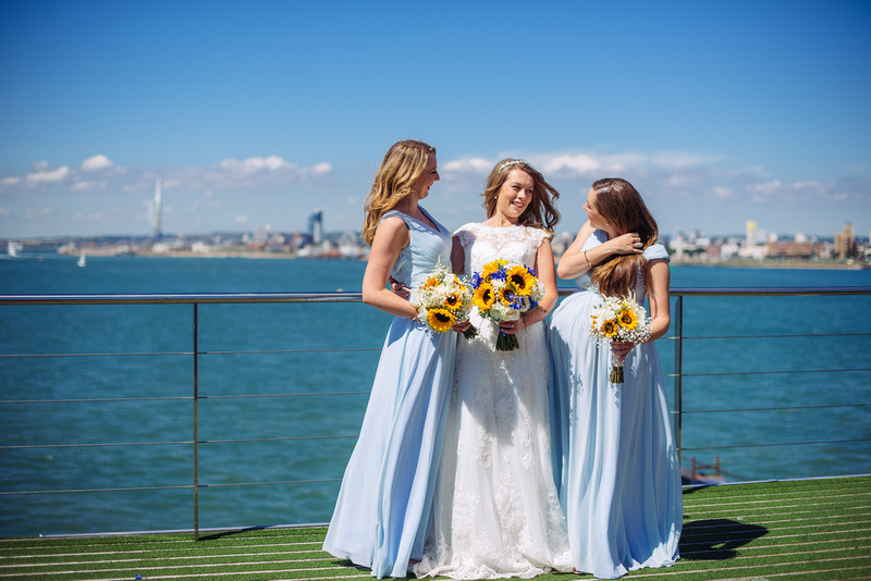 Spitbank fort wedding photographer, 2016. Gunwarf Quays.