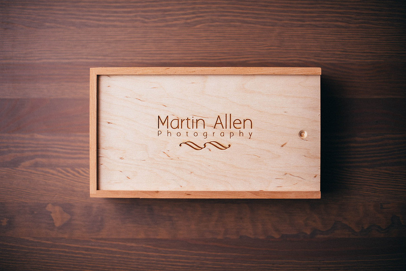 Wooden USB wedding photography package. Martin Allen photography