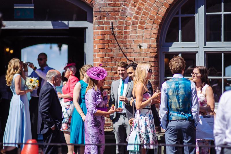 Spitbank fort wedding photographer, 2016. Gunwarf Quays.